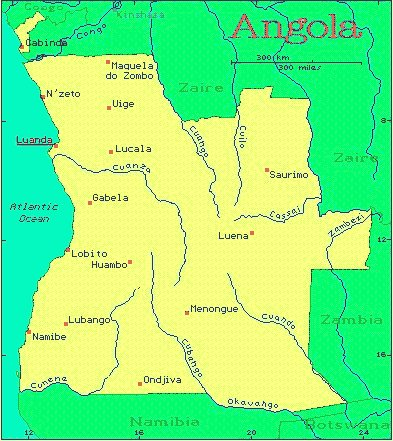 Angola On Africa Map.Angola African Countries Gateway Africa