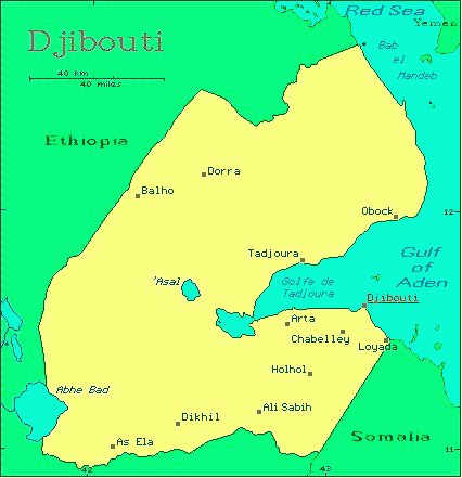 Djibouti On Africa Map.Djibouti African Countries Gateway Africa Safaris