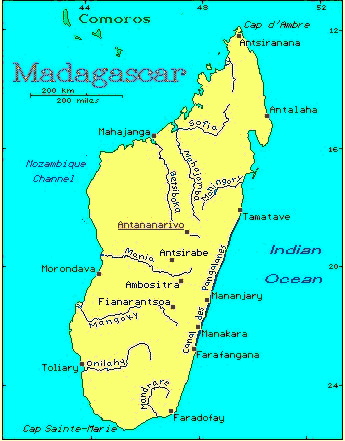 Map Of Africa Madagascar.Madagascar African Countries Gateway Africa Safaris