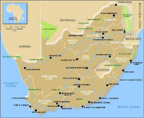 South Africa - African Countries | www.gateway-africa.com