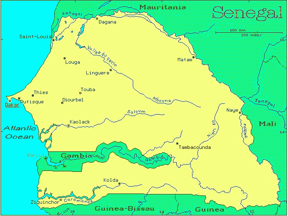 Senegal On Africa Map.Senegal African Countries Gateway Africa Safaris