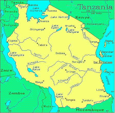 Map Of Africa Tanzania.Tanzania African Countries Gateway Africa Safaris