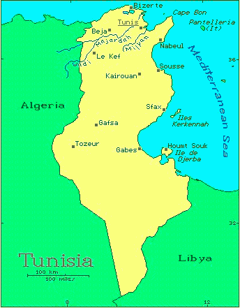 Tunisia African Countries Gateway Africa Safaris - Tunisia map africa