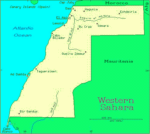 Western Sahara African Countries Gateway Africa