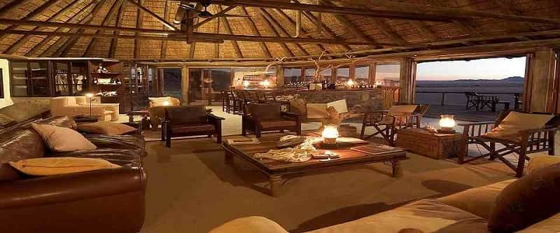 Luxury accommodation at the Ongava Private Game Reserve