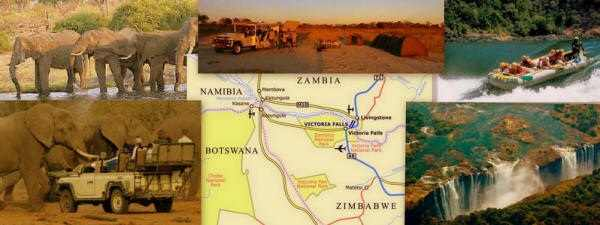 Top 19-day overland safari from Namibia via Botswana to Victoria Falls