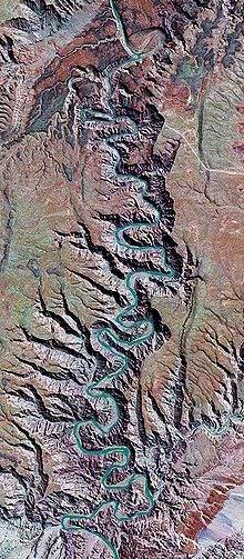 Satelite view of the Fish River Canyon: Second largest canyon in the world.