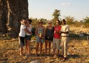 Rotary International Group: At the Giant Baobab tree in Mahangu game Reserve