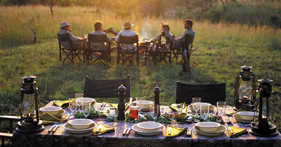 Meals on overland safaris